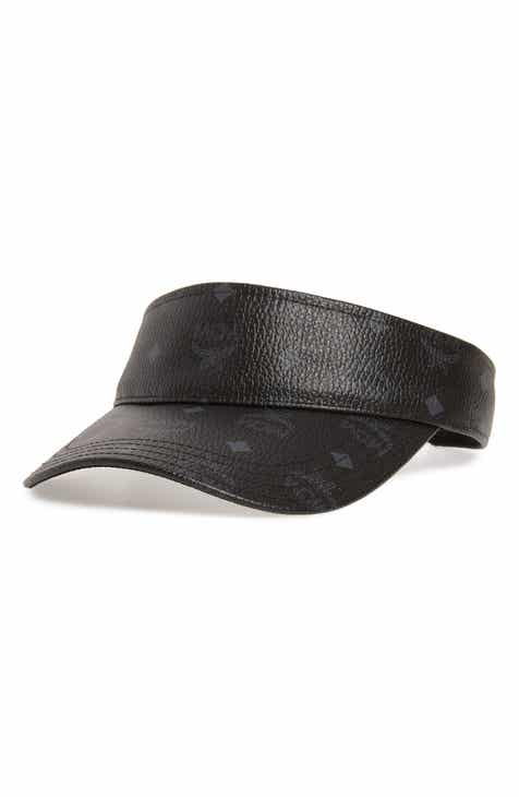 MCM Visetos Print Faux Leather Visor 08944de9194