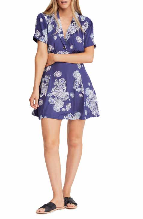 881d4b74f50 Free People Blue Hawaii Minidress