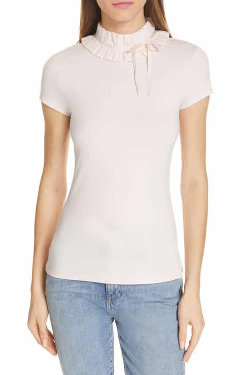 5023f5a4b Ted Baker London Ruffle Neck Fitted Tee