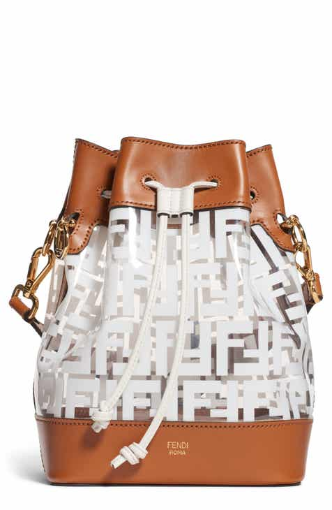 4565ba12a8 Fendi Mon Tresor Logo Transparent Bucket Bag