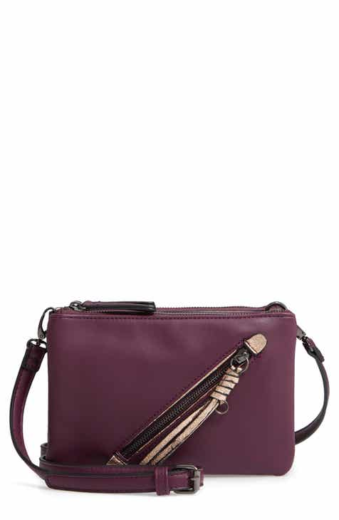 5a8d997240 Sondra Roberts East West Faux Leather Crossbody Bag