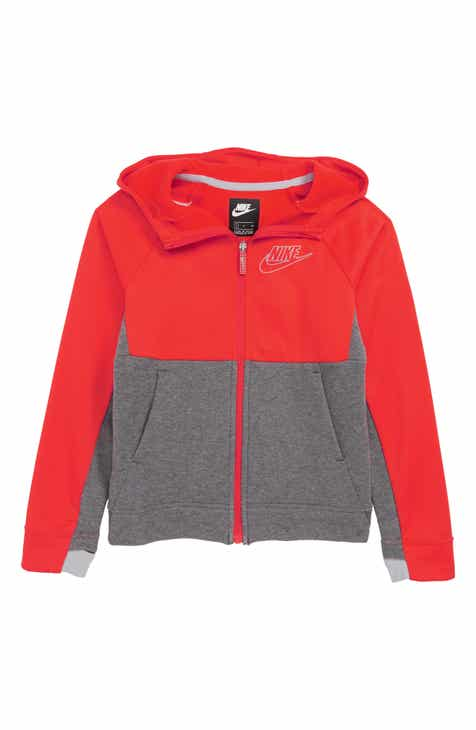 4193727fa3f8 Nike Colorblock Zip Front Hoodie (Little Boys   Big Boys)