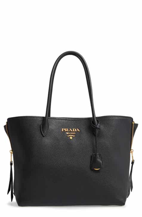 Prada Daino Side Zip Leather Per