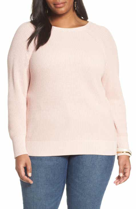 d3fb6b5a8 Women s Pink Plus-Size Sweaters