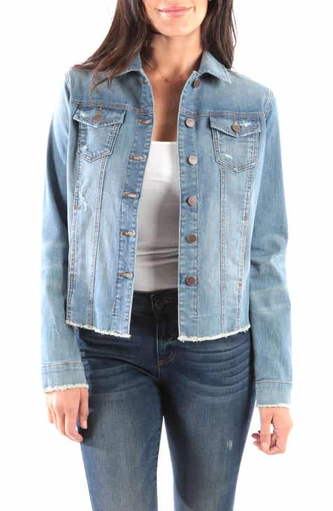 KUT from the Kloth Arielle Frayed Denim Jacket by KUT FROM THE KLOTH