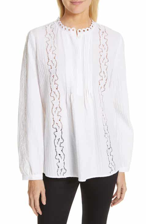 37af43906f Nordstrom Signature Embroidered Pleated Blouse