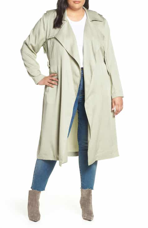 21feee6c008 Badgley Mischka Angelina Trench Coat (Plus Size)