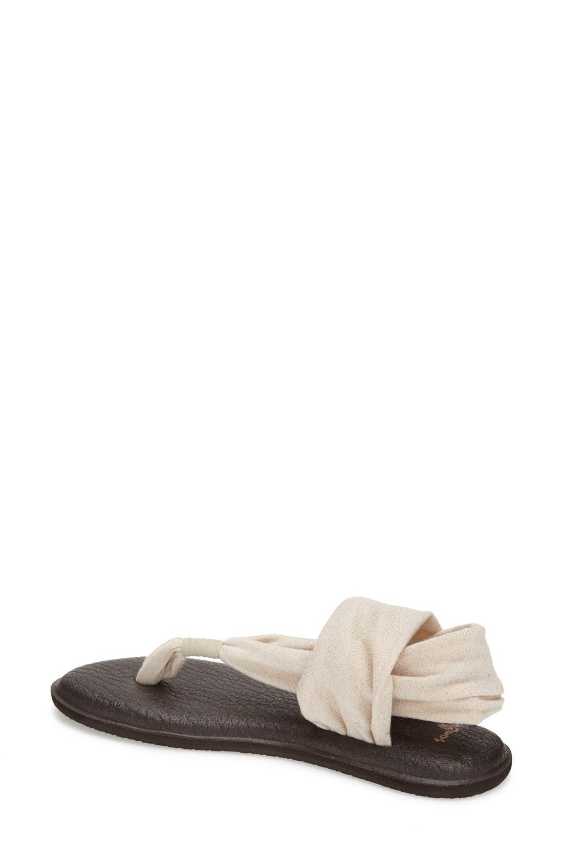 Alternate Image 2  - Sanuk 'Yoga Metallic Sling' Sandal (Women)