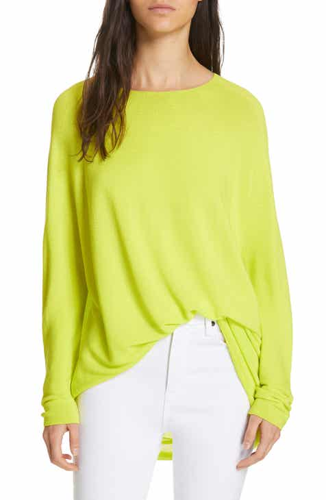 La Vie Rebecca Taylor Mix Media Cotton Sleeve Sweater by LA VIE REBECCA TAYLOR