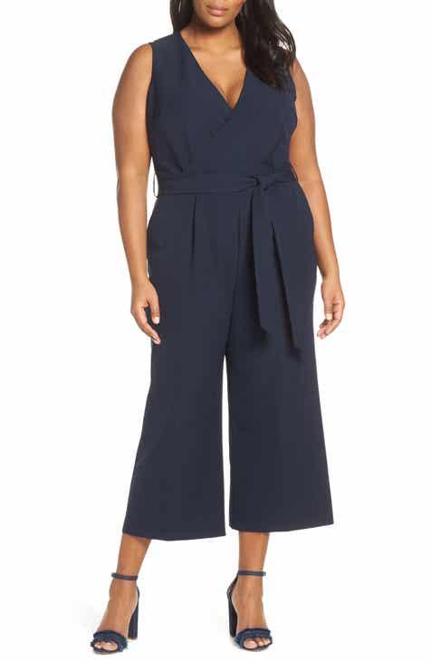 e2d819016bd Vince Camuto Belted Jumpsuit (Plus Size)