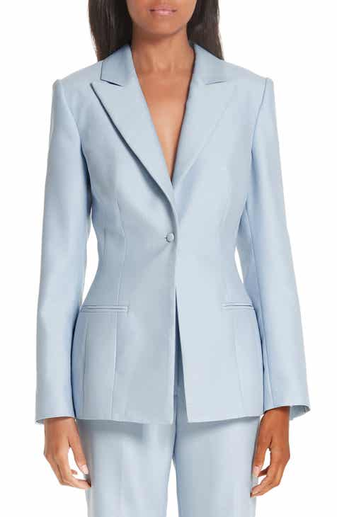 Partow One-Button Wool & Silk Jacket by PARTOW