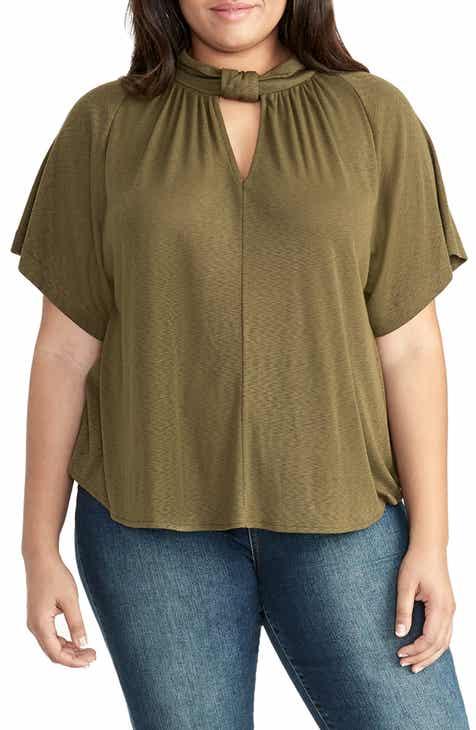 07012747e7a9 RACHEL Rachel Roy Gabriella Tie Neck Top (Plus Size)