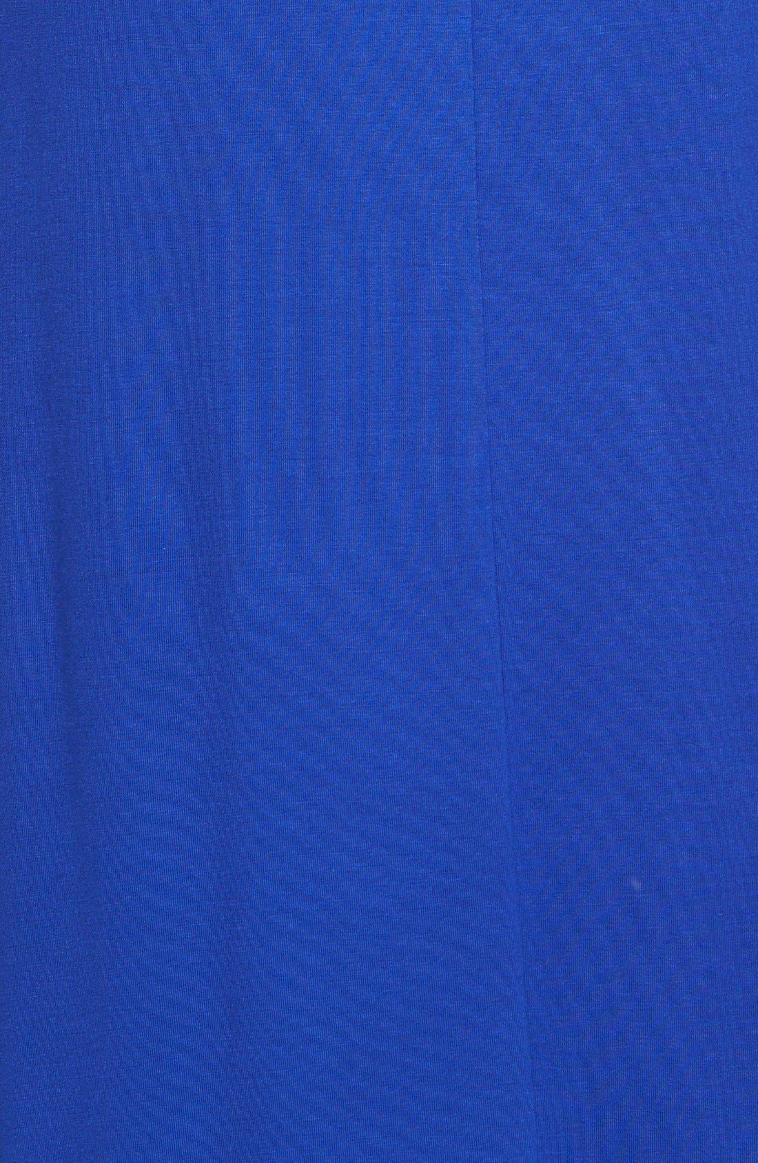 V-Neck Jersey Maxi Dress,                             Alternate thumbnail 2, color,                             Blue Mazarine