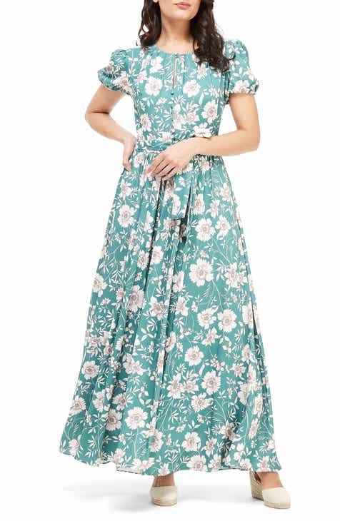 c46e85bfa81 Gal Meets Glam Collection Shannon Pleat Neck Maxi Dress (Regular   Petite)