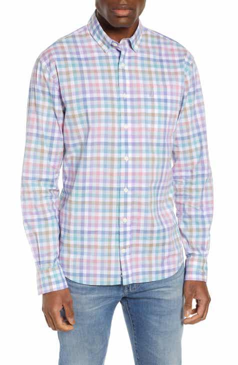 8bd5a16f johnnie-O Piers Classic Fit Check Sport Shirt