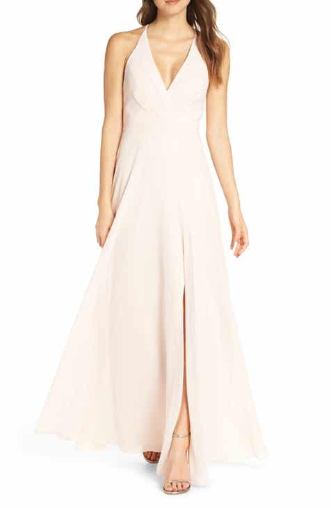 40180d2e0ab8 Jenny Yoo Bryce Surplice V-Neck Chiffon Evening Dress