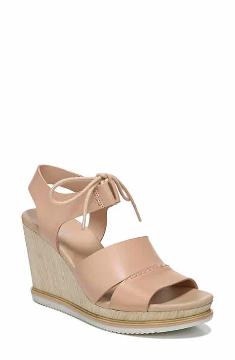Dr. Scholls Summertime Wedge Sandal (Women).  89.95. Product Image. PINK  LEATHER  BLACK LEATHER 76703a917d9c