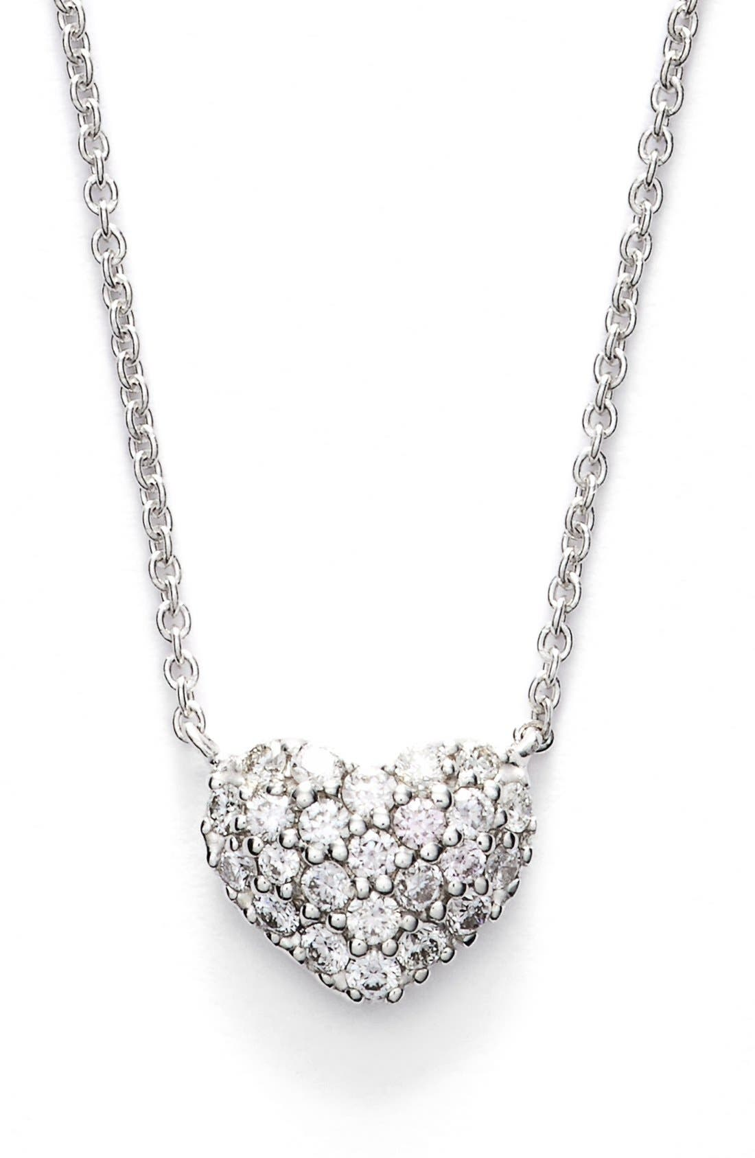 Main Image - Bony Levy Diamond Pavé Heart Pendant Necklace (Limited Edition) (Nordstrom Exclusive)