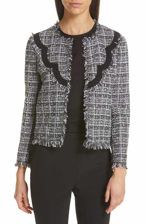 kate spade new york scallop detail tweed jacket by KATE SPADE NEW YORK