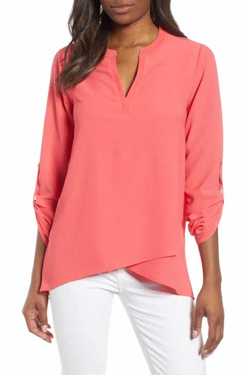 8851b3eb1cc559 Gibson x International Women s Day Erin Cross Front Tunic Blouse (Regular    Petite)