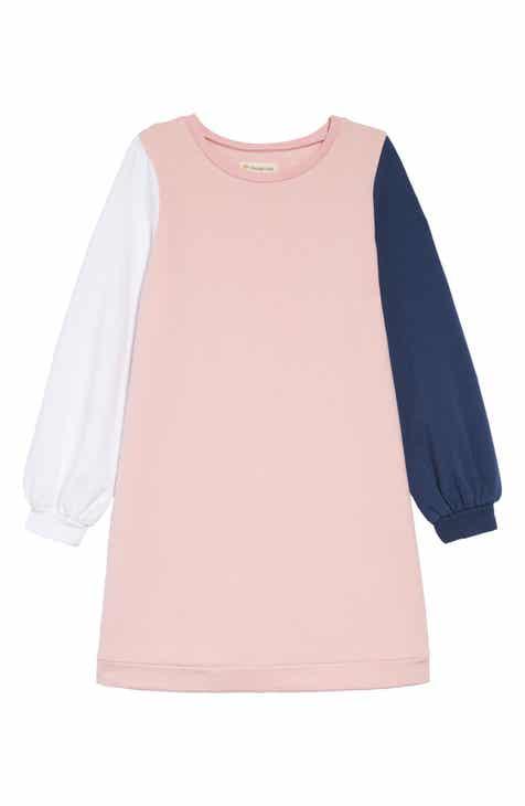 Tucker + Tate Colorblock Fleece Dress (Toddler Girls