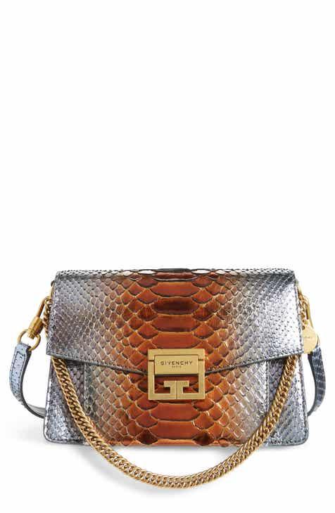fdb8dcea05a4 Givenchy Small GV3 Metallic Genuine Python Crossbody Bag