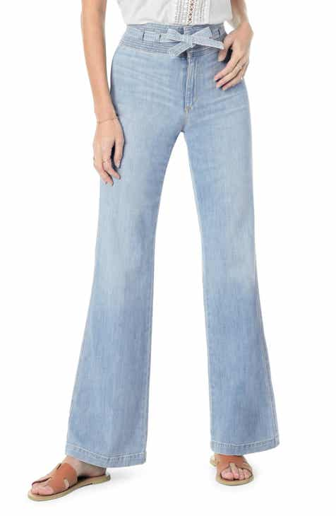 Topshop High Waist Flared Jeans (Petite) by TOPSHOP