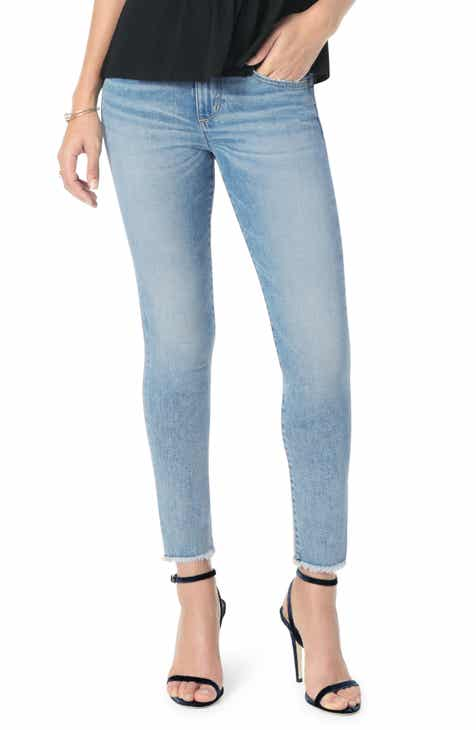 Joe's Icon Frayed Crop Skinny Jeans (Willow) by JOES