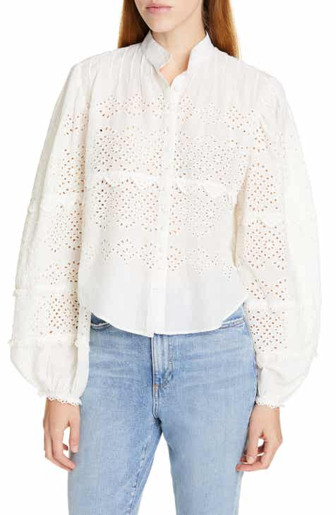 LoveShackFancy Lola Eyelet Top