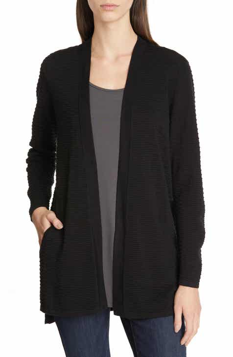 Eileen Fisher Silk   Organic Cotton Cardigan (Regular   Petite) dfa5d8675