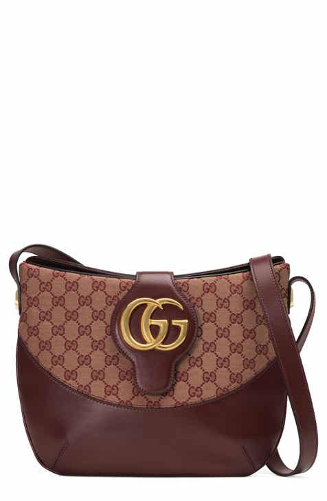 8900a5f5b Gucci Medium Arli GG Canvas & Leather Shoulder Bag