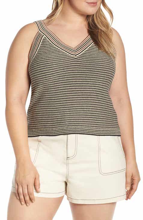 0c1a58038dda1 Stripe Sweater Tank (Plus Size)
