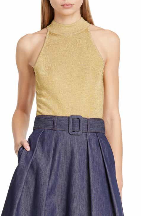 fcf923037e Tommy x Zendaya Metallic Knit Bodysuit (Nordstrom Exclusive)