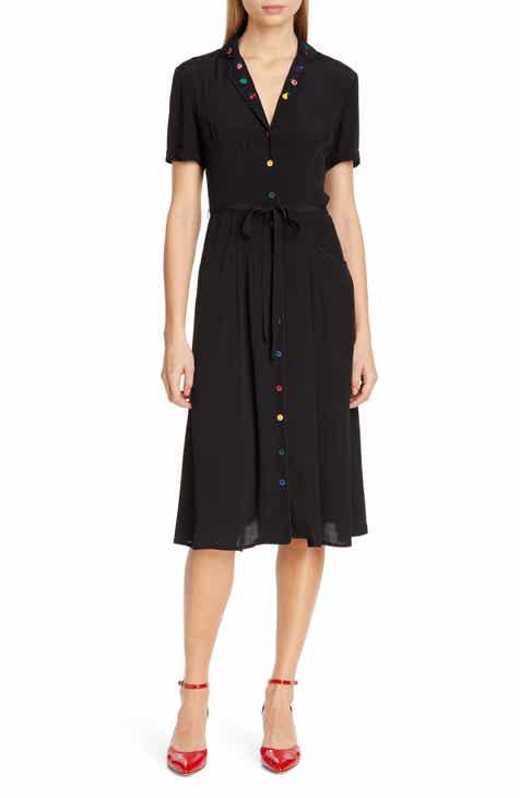 HVN Maria Pajama Midi Dress