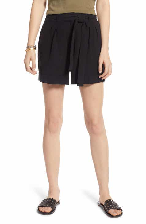 Treasure & Bond Pleated Tie Waist Shorts by TREASURE AND BOND