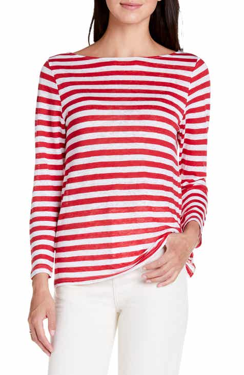18c74c781844 Michael Stars Kelly Stripe Boatneck Linen Top