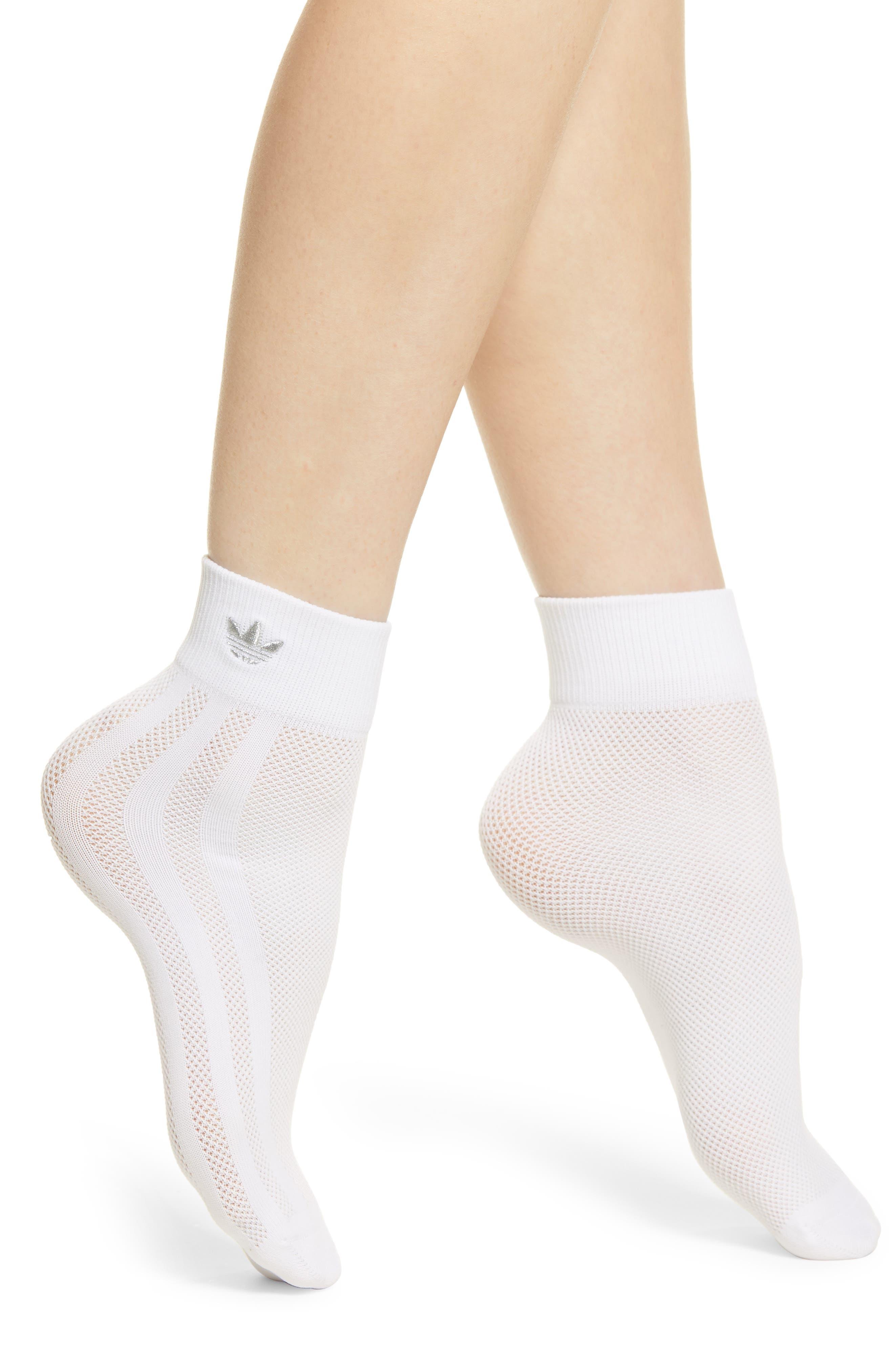 Adidas Socks Socks Clothing, Shoes & Accessories Trefoil Ank Str Pink/blue/green Fancy Colours