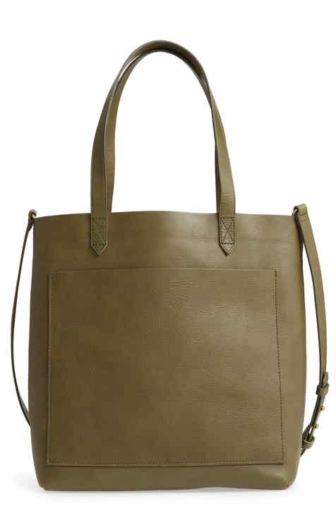 f75cf1879a04 Madewell Medium Leather Transport Tote