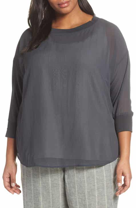 4046942ddf1e Eileen Fisher Silk Top (Plus Size)