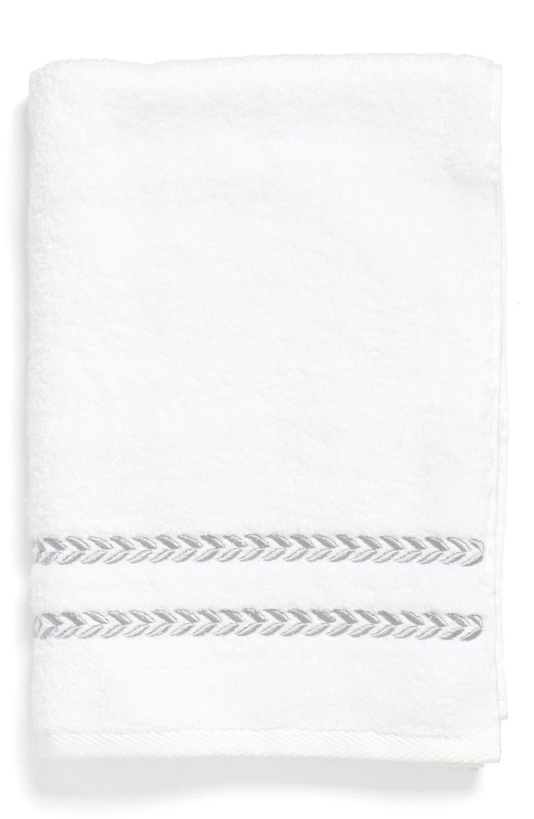 'Pearl Essence' Hand Towel,                         Main,                         color, White/ Smoke