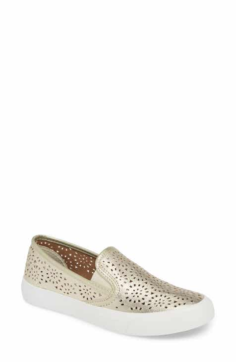 Sperry Seaside Nautical Perforated Slip-On Sneaker (Women) f06673a47