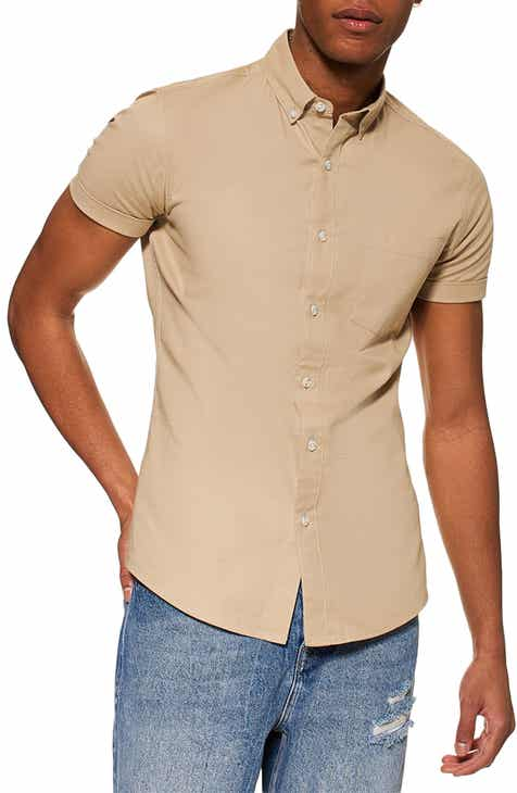 Topman Muscle Fit Oxford Shirt 01fe64cd77a