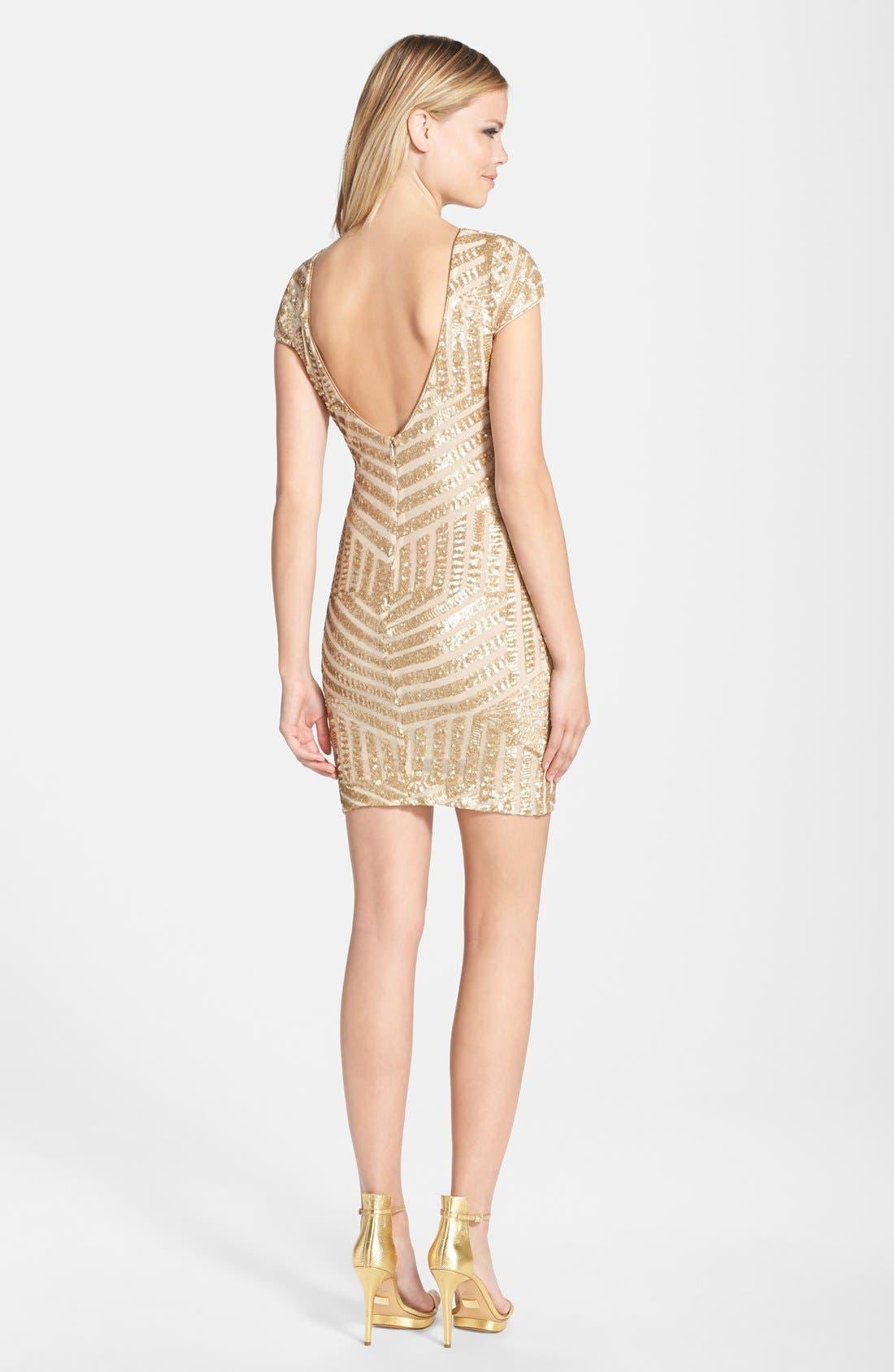 Alternate Image 2  - Dress the Population Tabitha Sequin Minidress