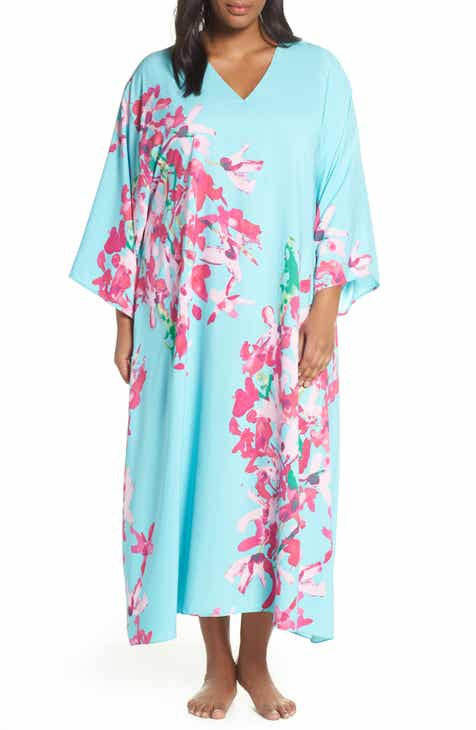 96d0dad10d0b Natori Hyacinth Satin Caftan (Plus Size).  190.00. Product Image