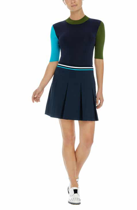 G/FORE Colorblock Mock Neck Golf Top by G/FORE
