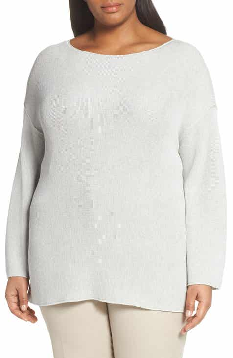 Lafayette 148 New York Relaxed Textured Stitch Sweater (Plus Size) by LAFAYETTE 148