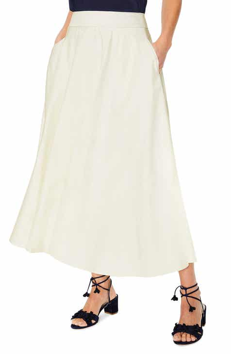 Reformation Highland Button Front Midi Skirt by REFORMATION