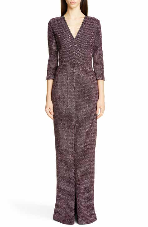 bfb8c4190704 St. John Collection Sequin Tweed Knit Evening Gown