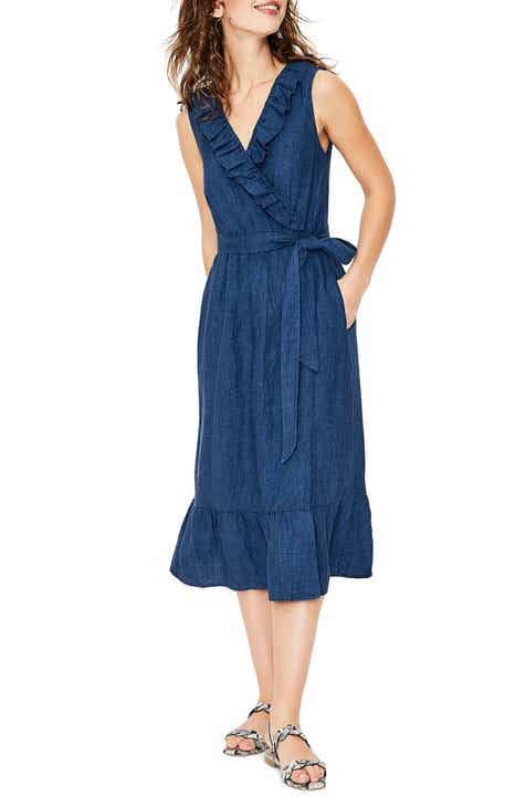 b5d622d149 Boden Nancy Linen Midi Dress (Regular   Petite)