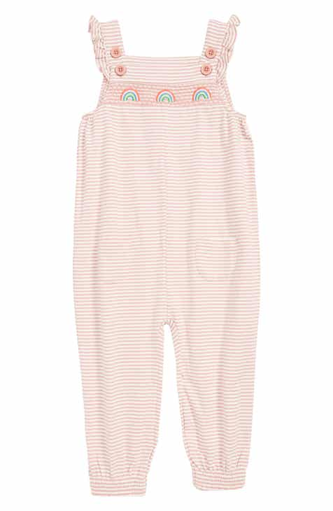 558c006a37f Mini Boden Smocked Rainbow Jersey Romper (Toddler Girls)